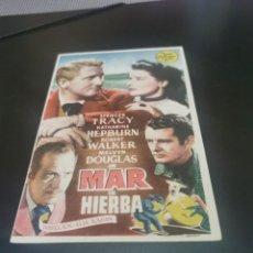 Flyers Publicitaires de films Anciens: PROGRAMA DE MANO ORIG - MAR DE HIERBA - CON CINE DE PALMA AL DORSO. Lote 244868805