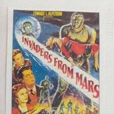 Cine: FOLLETO. INVADERS FROM MARS. INVASORES DE MARTE. KAREN BLACK. SINOPSIS AL DORSO. INTERFILMS.. Lote 245052795