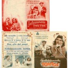 Cine: DELICIOSAMENTE TONTOS, CON AMPARITO RIVELLES.. Lote 245169790