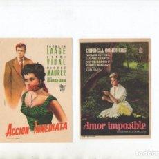 Cine: AMOR IMPOSIBLE-CORNELL BORCHERS, ACCION INMEDIATA-BARBARA LAAGE. Lote 245174035