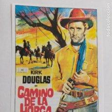 Cine: FOLLETO DE MANO: CAMINO DE LA HORCA. KIRK DOUGLAS. SINOPSIS AL DORSO. AÑO 1951. INTERFILMS.. Lote 245239100
