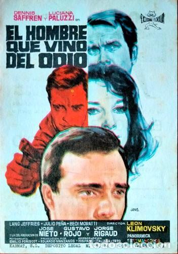 EL HOMBRE QUE VINO DEL ODIO (CON PUBLICIDAD) (Cine - Folletos de Mano - Suspense)