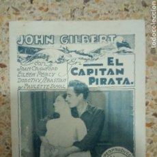 Folhetos de mão de filmes antigos de cinema: PROGRAMA EL CAPITAN PIRATA, JOAN CRAWFORD, EILEEN PERCY, PAULETTE DUVAL. Lote 229817355