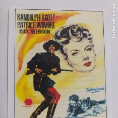 Cine: FOLLETO: ERA EL COMANDANTE CALLICUT. RANDOLPH SCOTT. SINOPSIS AL DORSO. INTERFILMS.. Lote 245341275