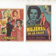 Cine: MUJERES EN LA CALLE-JOAN COLLINS, LANDRU-MICHELE MORGAN. Lote 245384900