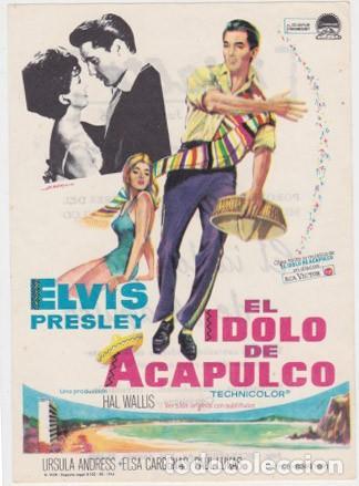 EL IDOLO DE ACAPULCO (CON PUBLICIDAD) (Cine - Folletos de Mano - Musicales)