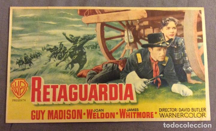 FOLLETO DE MANO RETAGUARDIA. PUBLICIDAD MONUMENTAL CINEMA (Cine - Folletos de Mano - Westerns)