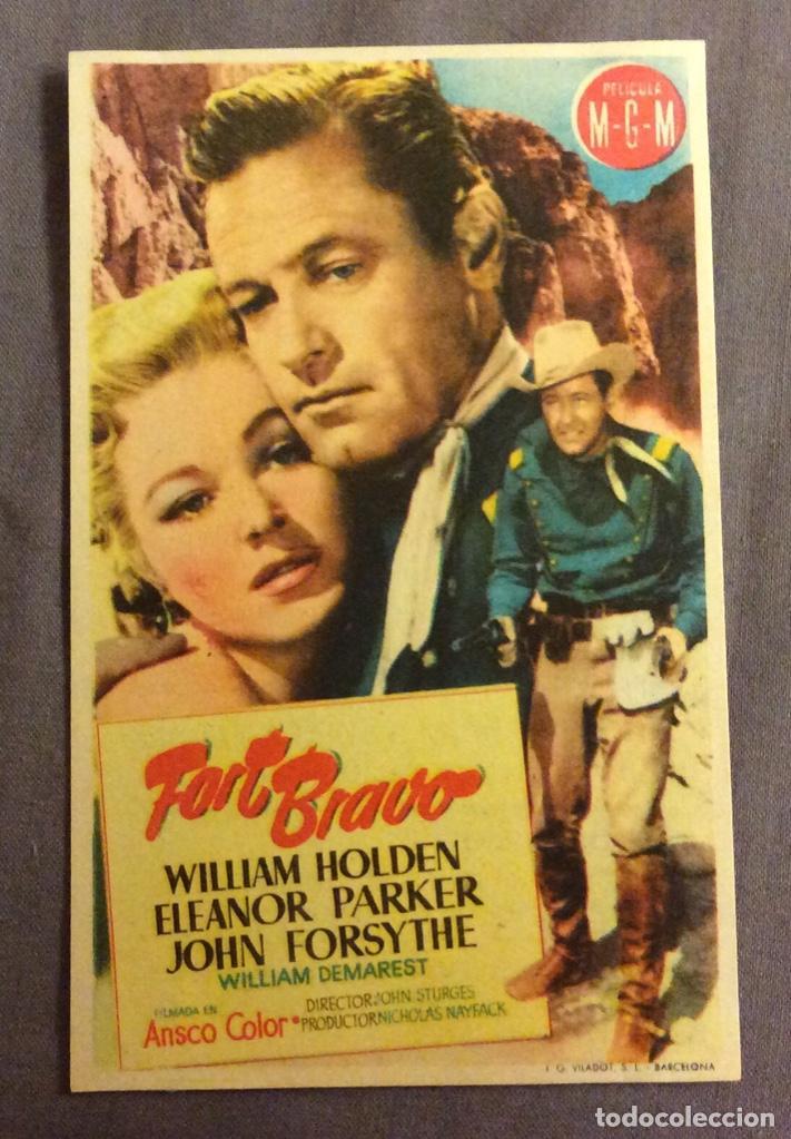 FOLLETO DE MANO FORT BRAVO. PUBLICIDAD CINE PERELLO (Cine - Folletos de Mano - Westerns)