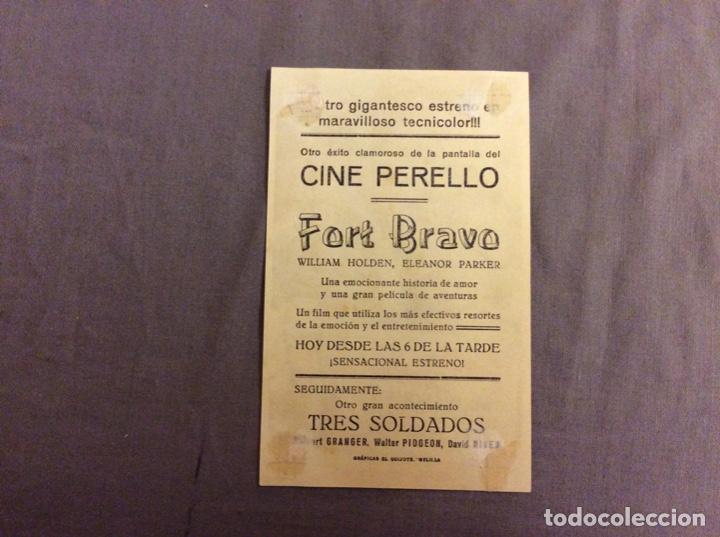 Cine: FOLLETO DE MANO FORT BRAVO. PUBLICIDAD CINE PERELLO - Foto 2 - 245493140