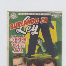 Cine: BURLANDO LA LEY. PROGRAMA DE CINE SENCILLO CON PUBLICIDAD. CINE GADES. CÁDIZ.. Lote 245561725