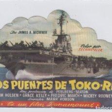 Cine: LOS PUENTES DE TOKO-RI. PROGRAMA DE CINE SENCILLO TROQUELADO CON PUBLICIDAD. CINE IMPERIAL. CÁDIZ.. Lote 245565450