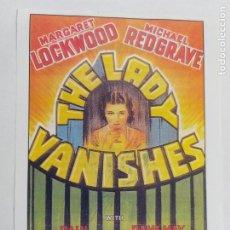 Cine: FOLLETO: THE LADY VANISHES. ALARMA EN EL EXPRESO. MARGARET LOCKWOOD. SINOPSIS DORS. INTERFILMS. Lote 245607625