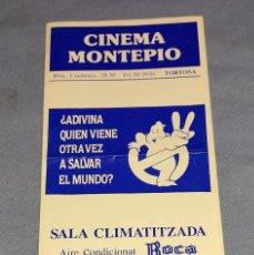Flyers Publicitaires de films Anciens: ANTIGUO FOLLETO TRIPTICO CINEMA MONTEPIO DE TORTOSA CAZAFANTASMAS II ORIGINAL AÑOS 80. Lote 245616470