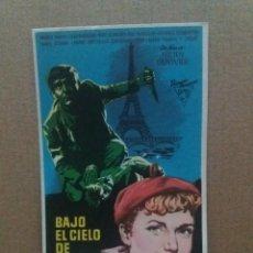 Cine: BAJO EL CIELO DE PARIS. Lote 245712360
