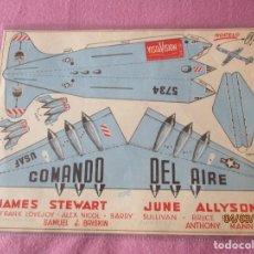 Cine: COMANDO EN EL AIRE. JAMES STEWART. VISTAVISION OSCAR DE HONOR 1954. PROGRAMA Y RECORTABLE.. Lote 245714060