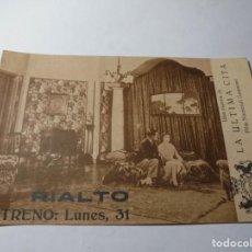 Cine: MAGNIFICO ANTIGUO PROGRAMA DE CINE,TARJETA,LA ULTIMA CITA DEL 1929. Lote 245736340