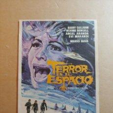 Folhetos de mão de filmes antigos de cinema: FOLLETO DE MANO DE LA PELICULA TERROR EN EL ESPACIO. Lote 245787970