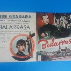 Cine: BALARRASA DOBLE CON PUBLICIDAD CINE GRANADA. Lote 245932105