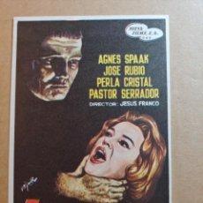 Folhetos de mão de filmes antigos de cinema: FOLLETO DE MANO DE LA PELICULA EL SECRETO DEL DR. ORLOFF. Lote 245937230