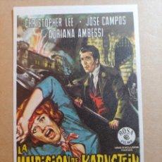 Folhetos de mão de filmes antigos de cinema: FOLLETO DE MANO DE LA PELICULA LA MALDICION DE LOS KARNSTEIN. Lote 245939970