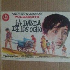 Cine: LA BANDA DE LOS OCHO CON PUBLICIDAD CINE LOPE DE VEGA MÁLAGA. Lote 245958885