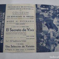 Cine: D767 PROGRAMA DE MANO ORIGINAL EL DE LA FOTO. Lote 246164865