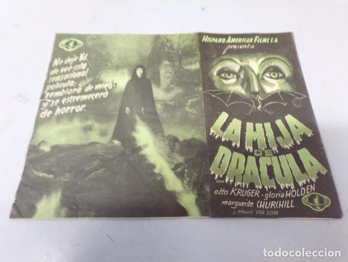 Cine: folleto mano LA HIJA DE DRÁCULA, CINE TERROR - Foto 4 - 246507965