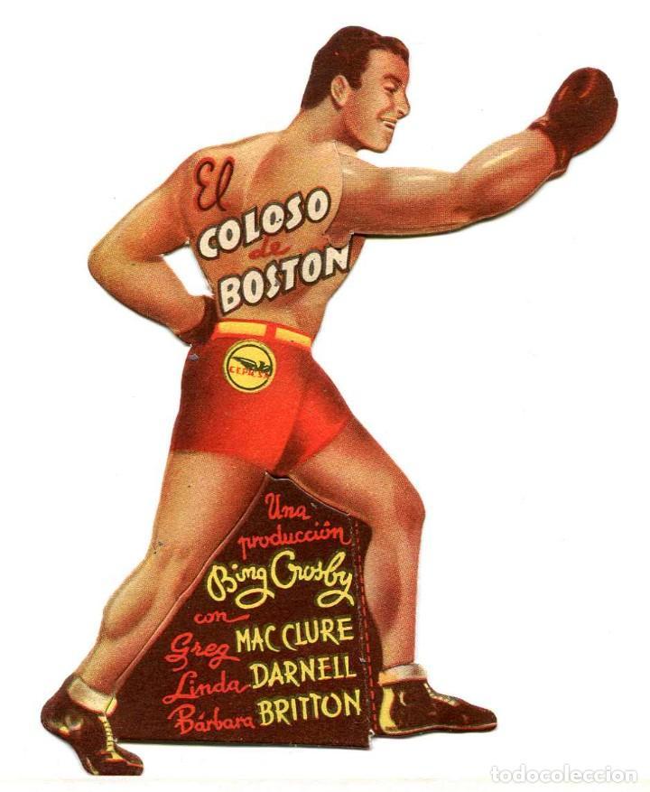 EL COLOSO DE BOSTON, CON BING CROSBY . PROGRAMA MOVIBLE. (Cine - Folletos de Mano - Deportes)