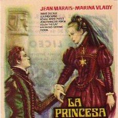 Cine: LA PRINCESA DE CLEVES (CON PUBLICIDAD). Lote 246783640