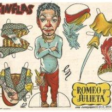 Cine: GRAN FOLLETO RECORTABLE PUBLI CINE SINDICATO DE MONTBLANC CANTINFLAS ROMEO Y JULIETA ORIGINAL 1947. Lote 246826420