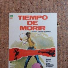 Cine: FOLLETO DE MANO DE LA PELICULA TIEMPO DE MORIR. Lote 246829935