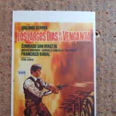 Cine: FOLLETO DE MANO DE LA PELICULA LOS LARGOS DIAS DE LA VENGANZA. Lote 246836600