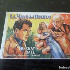 Foglietti di film di film antichi di cinema: PROGRAMA DE CINE IMPRESO EN LA PARTE TRASERA. Lote 246839065