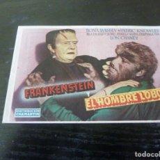 Foglietti di film di film antichi di cinema: PROGRAMA DE CINE IMPRESO EN LA PARTE TRASERA. Lote 246839460