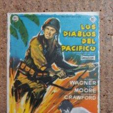 Cine: FOLLETO DE MANO DE LA PELICULA LOS DIABLOS DEL PACIFICO. Lote 246842520