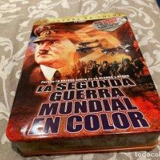 Cine: LA 2ª GUERRA MUNDIAL EN COLOR-PACK DE 12DVDS - 26 HORAS DE VISIONADO- EN SU ESTUCHE DE METAL. Lote 246853730