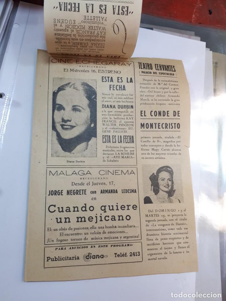 Cine: Esta es la fecha. Echegaray, Málaga. Libretillo. - Foto 3 - 246981120