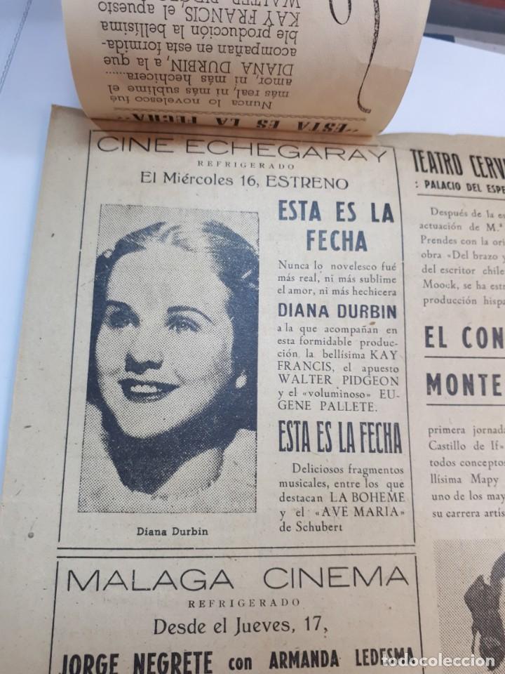 Cine: Esta es la fecha. Echegaray, Málaga. Libretillo. - Foto 4 - 246981120