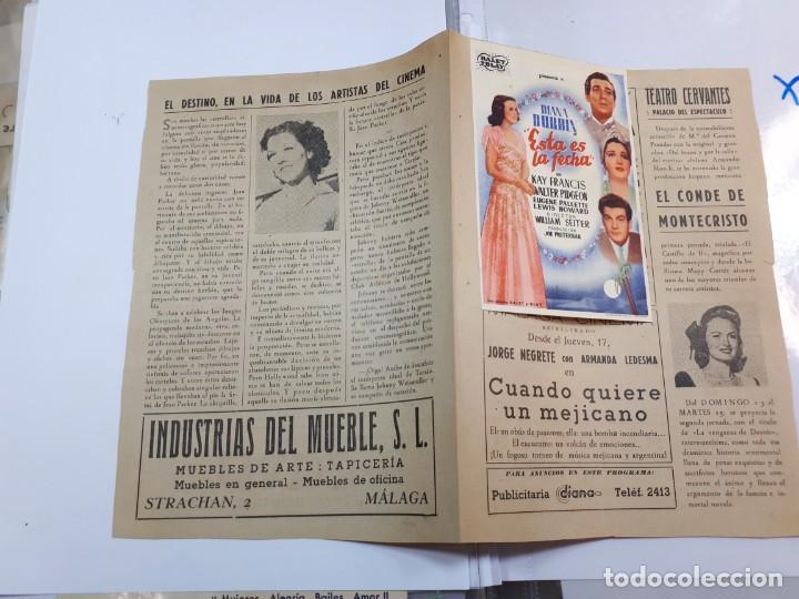Cine: Esta es la fecha. Echegaray, Málaga. Libretillo. - Foto 6 - 246981120