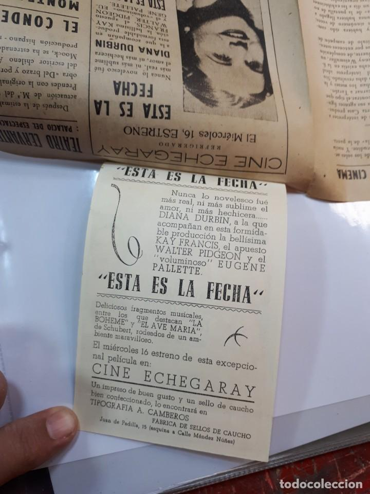 Cine: Esta es la fecha. Echegaray, Málaga. Libretillo. - Foto 7 - 246981120