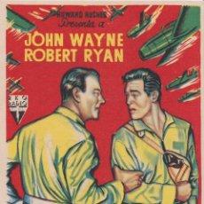 Folhetos de mão de filmes antigos de cinema: PROGRAMA DE CINE – INFIERNO EN LAS NUBES - JOHN WAYNE - PRADO Y PATRONATO -. Lote 247181595