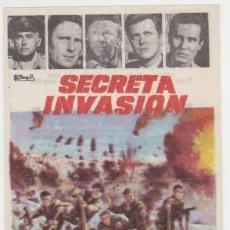 Cine: SECRETA INVASIÓN (CON PUBLICIDAD). Lote 247203230