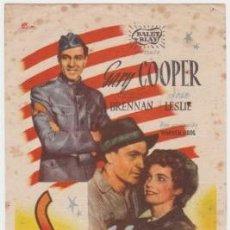 Folhetos de mão de filmes antigos de cinema: EL SARGENTO YORK. Lote 247203580