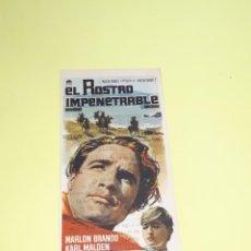 Cine: EL ROSTRO IMPENETRABLE, PARAMOUNT, ECHEGARAY, MÁLAGA. 1962. BRANDO.. Lote 247292380