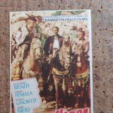 Cine: FOLLETO DE MANO DE LA PELICULA CARNE DE HORCA CON PUBLICIDAD. Lote 247390155