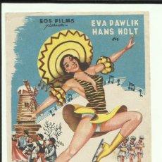 Cine: PTCC 062 FESTIVAL SOBRE EL HIELO PROGRAMA SENCILLO EOS EVA PAWLIK HANS HOLT PATINAJE NO ESTRENADA ?. Lote 247520100