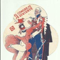 Folhetos de mão de filmes antigos de cinema: PTCC 062 EL CONGRESO SE DIVIERTE PROGRAMA TROQUELADO ACE LILIAN HARVEY LIL DAGOVER CONRAD VEIDT. Lote 247547300