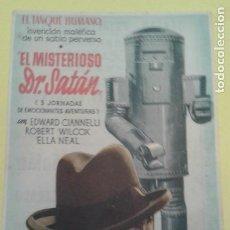 Cine: EL MISTERIOSO DR. SATAN EDWARD CIANNELLI C.P. TEATRO PRINCIPAL IRUN. Lote 247606155