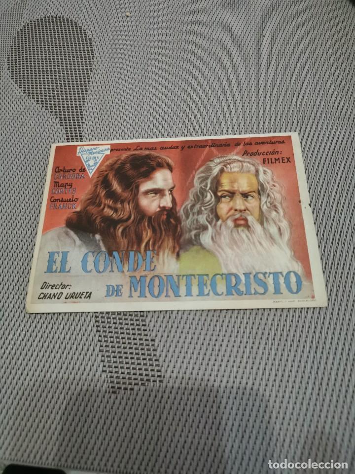 PROGRAMA DE MANO ORIG - EL CONDE DE MONTECRISTO - CON CINEMA SALAMANCA IMPRESO AL DORSO (Cine - Folletos de Mano - Clásico Español)