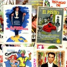 Cine: LOTE DE 50 FOLLETOS PROGRAMAS DE CINE ORIGINALES TODOS DIFERENTES EN PERFECTO ESTADO. Lote 247670445